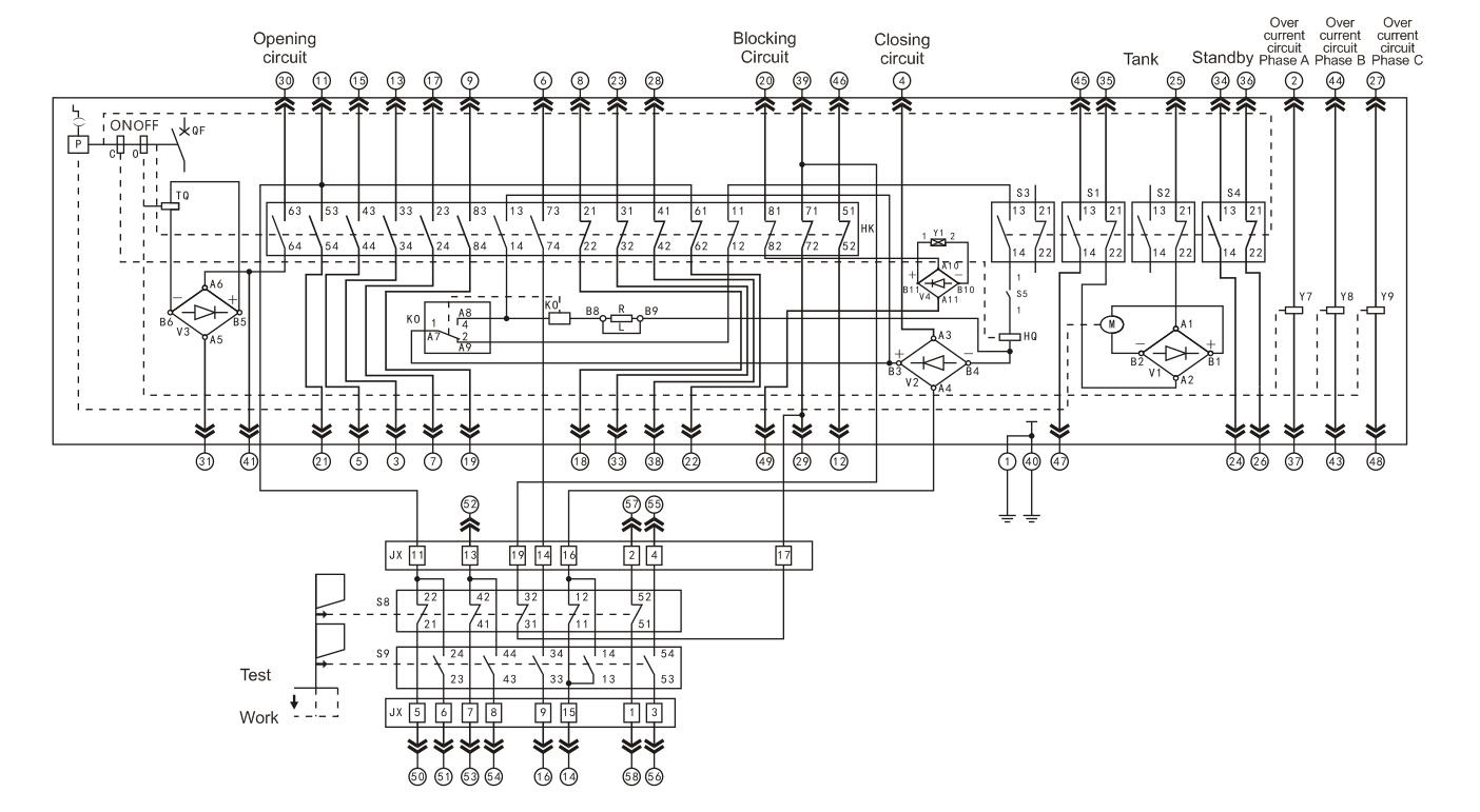 ZN63A Innenhochspannungs-Vakuumleistungsschalter 12KV