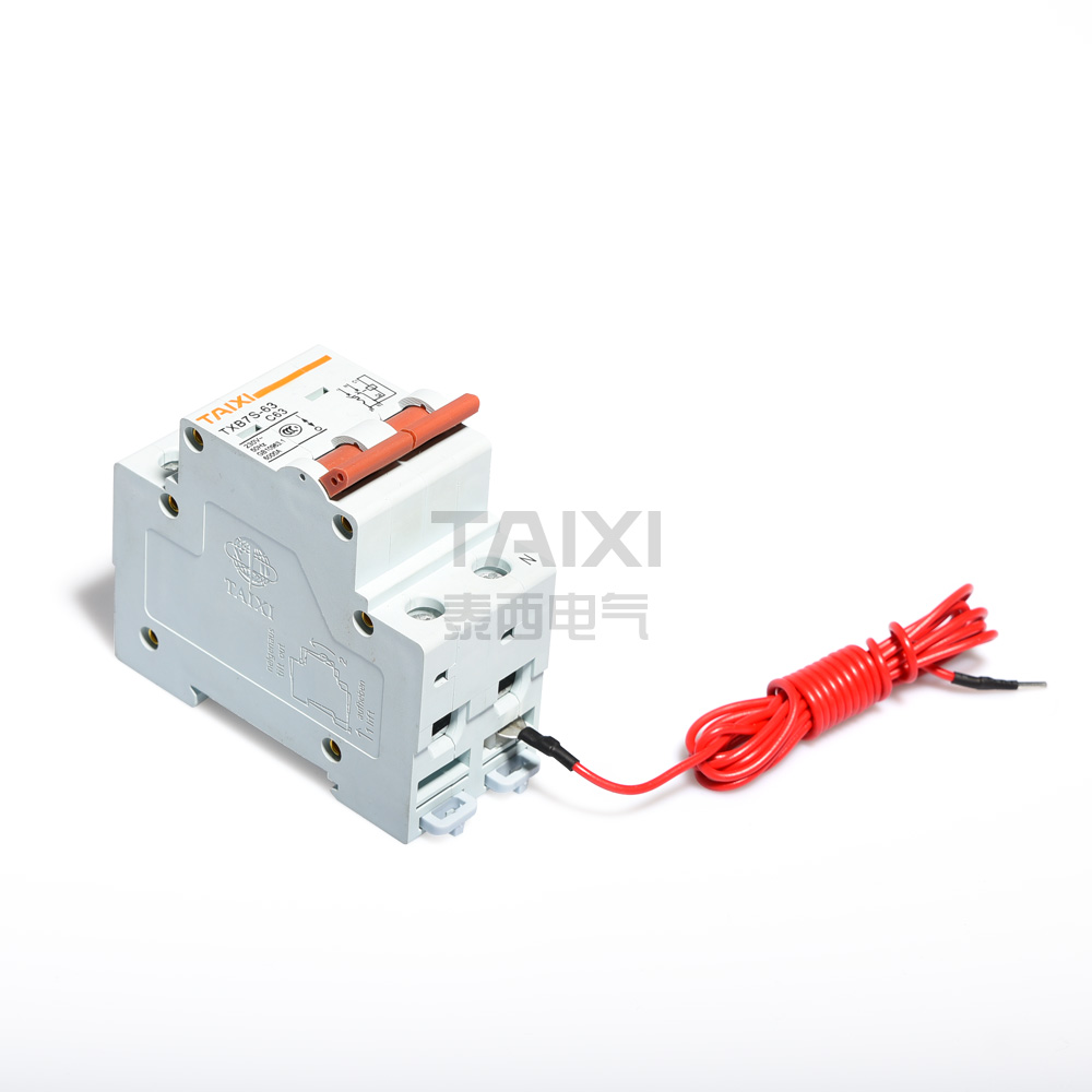 Ac Shunt Trip Circuit Breaker Taixi Electric 20a 400v Onoff Mcb With Cover Buy