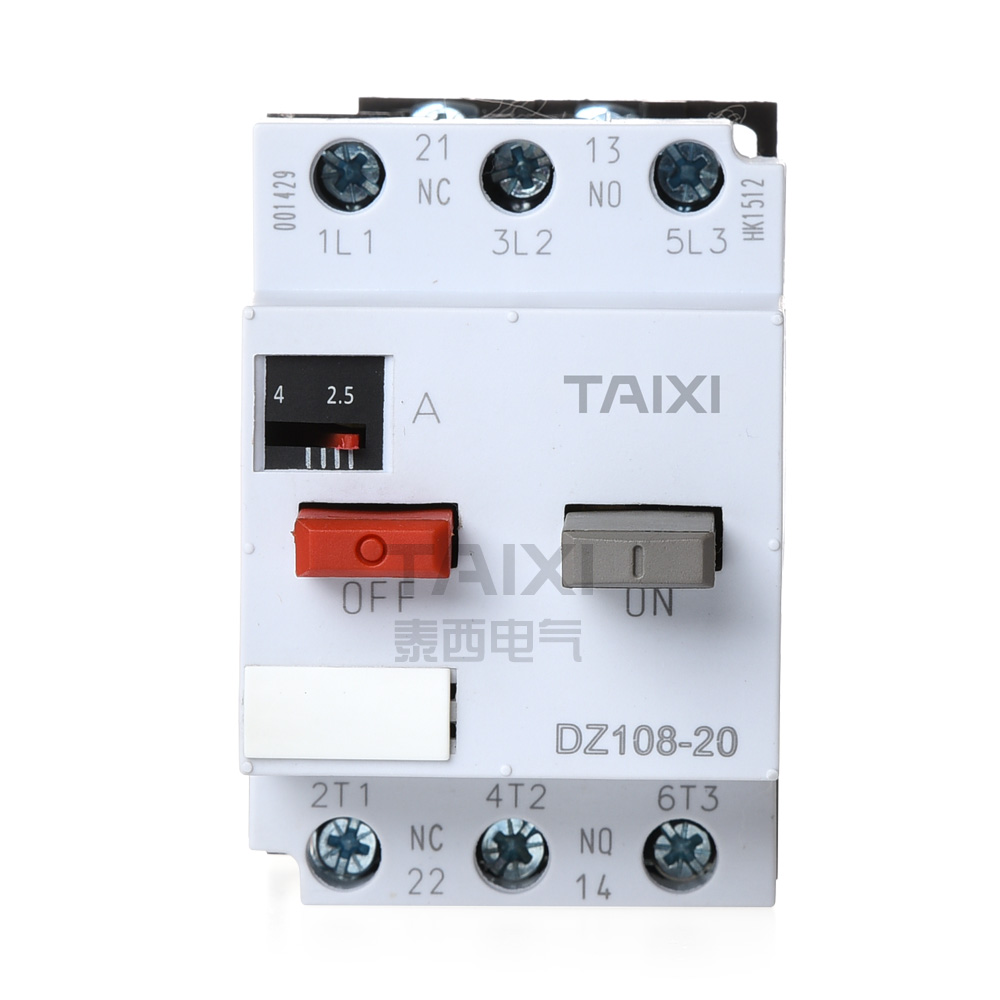 Dz108 20 Motor Protection Switch Circuit Protector Taixi Electric Breakermotor Breaker Product On
