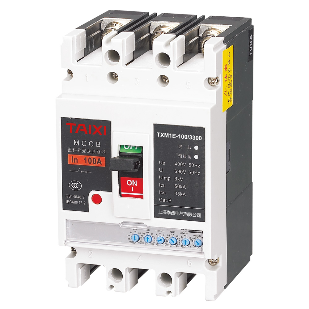 China Moulded Case Circuit Breaker Mccb Manufacturers Taixi Electric House Mcb High Quality Txcm1le Residual Current Operated Txcm1e Molded