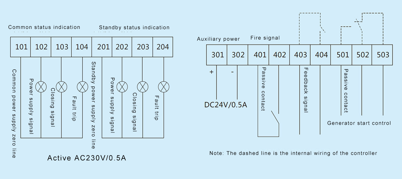 Dual Power Transfer Switch Taixi Electric 302 188 Wiring Diagram 73 External Of A Type Controller