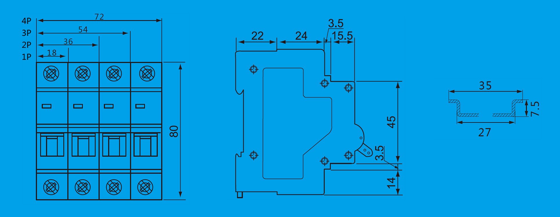 12 Volt Dc Circuit Breaker 60 50 40 30 20 10 Amp Taixi Electric Breakers Keywords Breaker12v Breakerdc