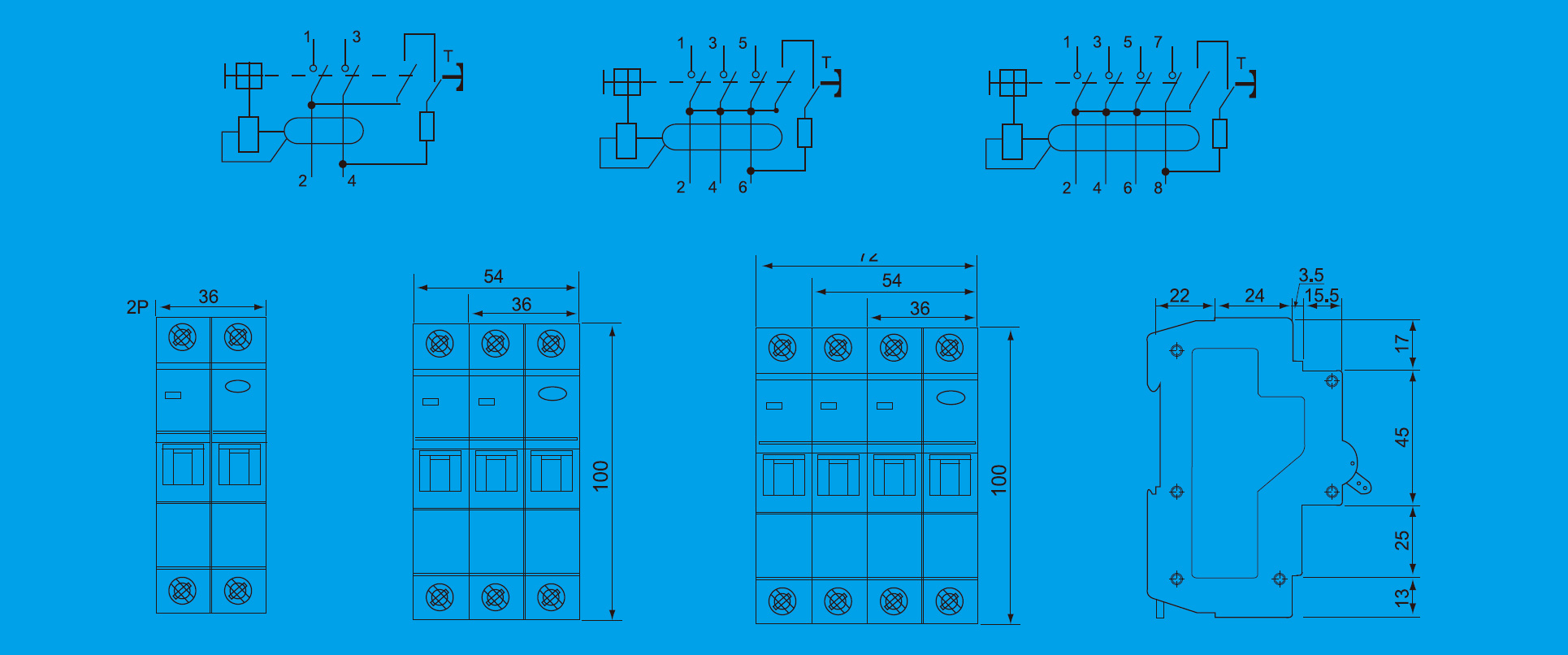 3 Phase Earth Leakage Circuit Breakers Taixi Electric Breaker Wiring Diagram Keywords